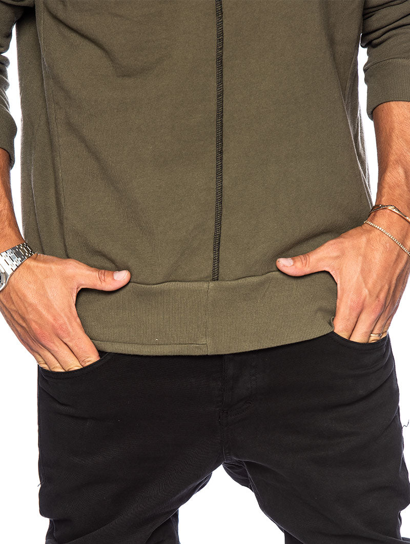 YAGU SWEATSHIRT IN GREEN