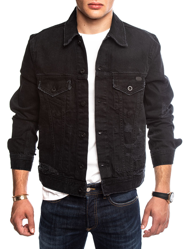 D-BRAY DENIM JACKET IN BLACK