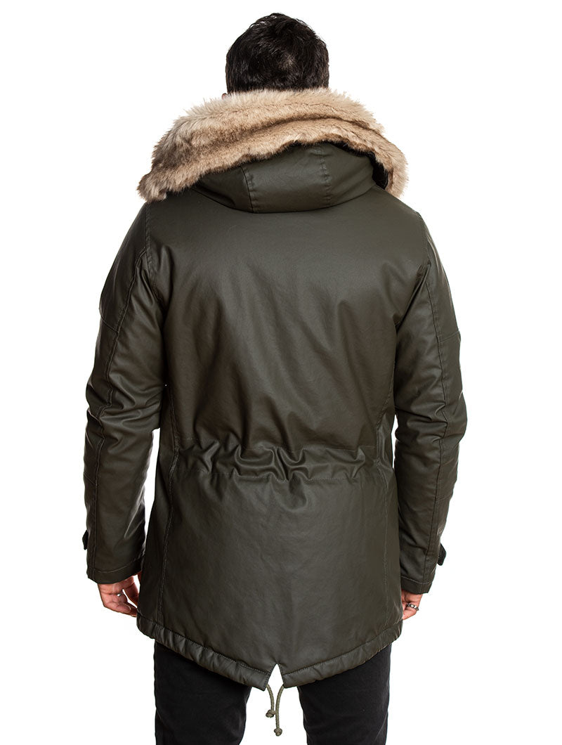 ALASKA PARKA IN BOTTLE GREEN