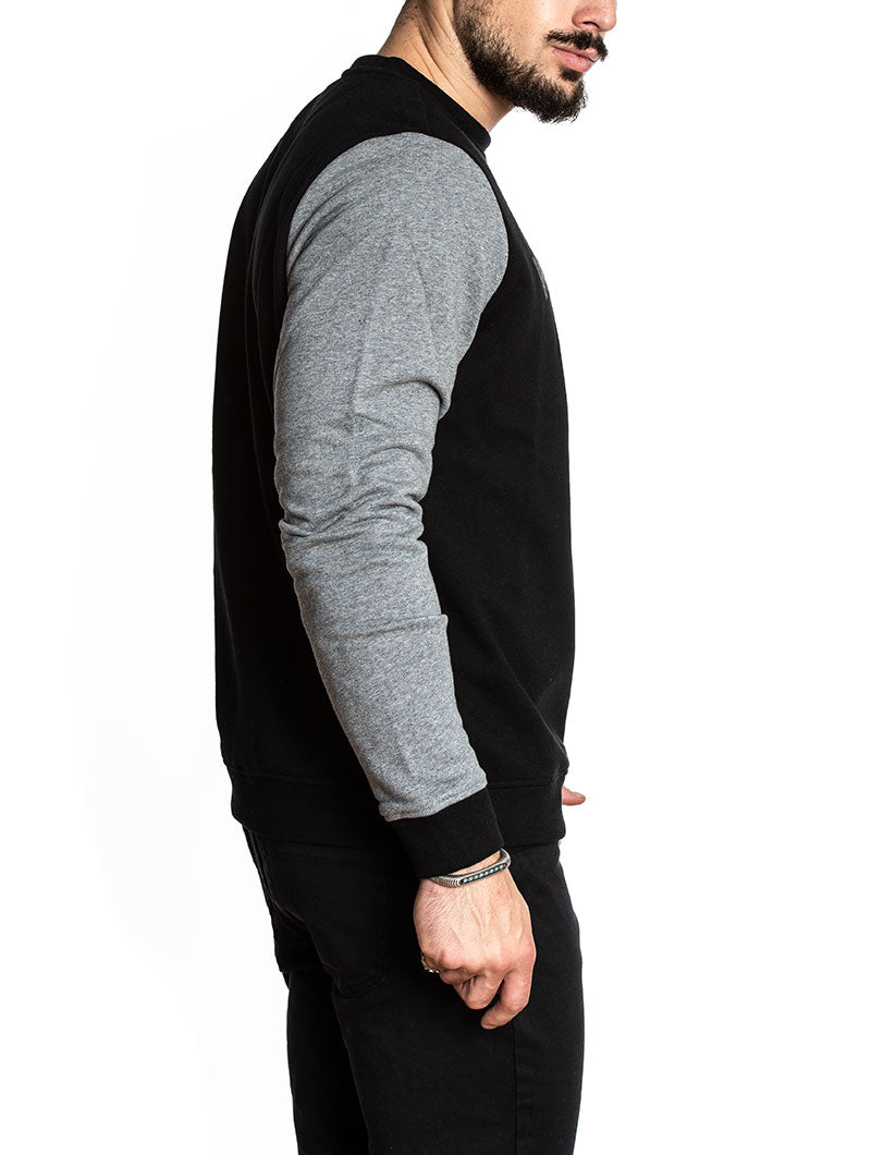 BONDED FLEECE CREW NECK IN BLACK