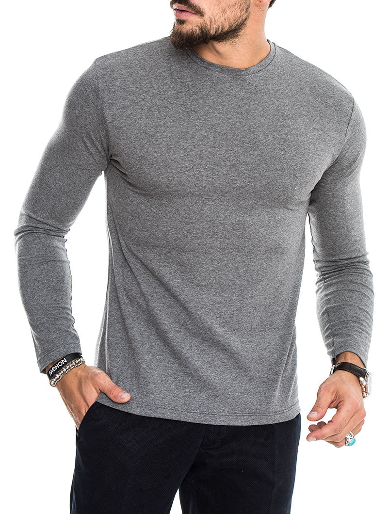 LONG SLEEVE T-SHIRT IN GREY