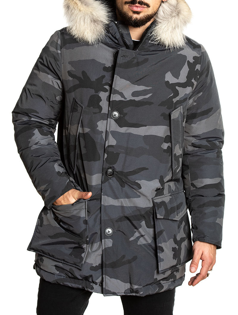 CAMOU ARCTIC PARKA IN GREY