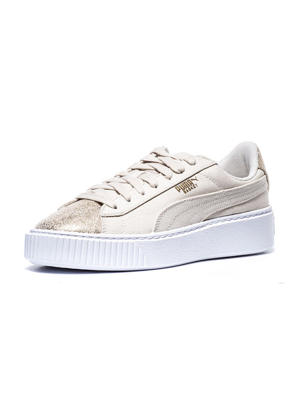 4366297cabf BASKET PLATFORM CANVASS WN S SHOES IN GOLD