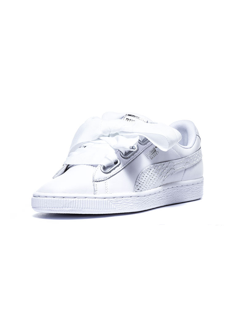 Puma BASKET HEART OCEANAIRE - Trainers - white