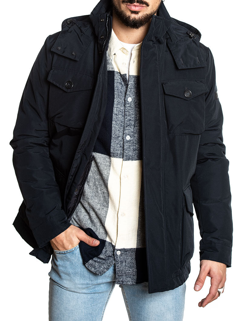 CAMOU FIELD JKT IN BLUE