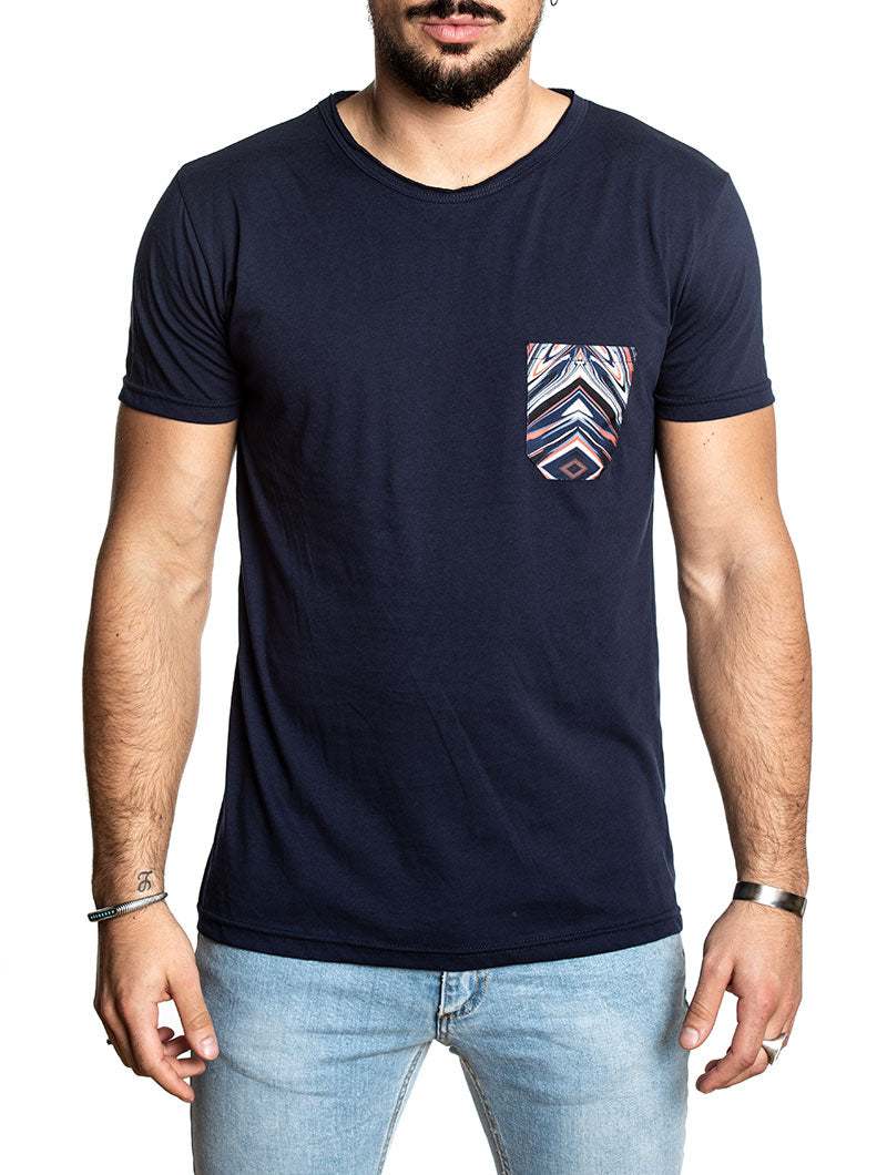 FANTASY POCKET T-SHIRT IN BLUE NAVY