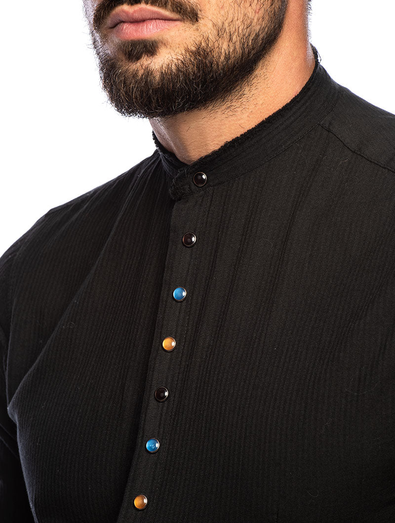 TEX CASUAL SHIRT IN BLACK