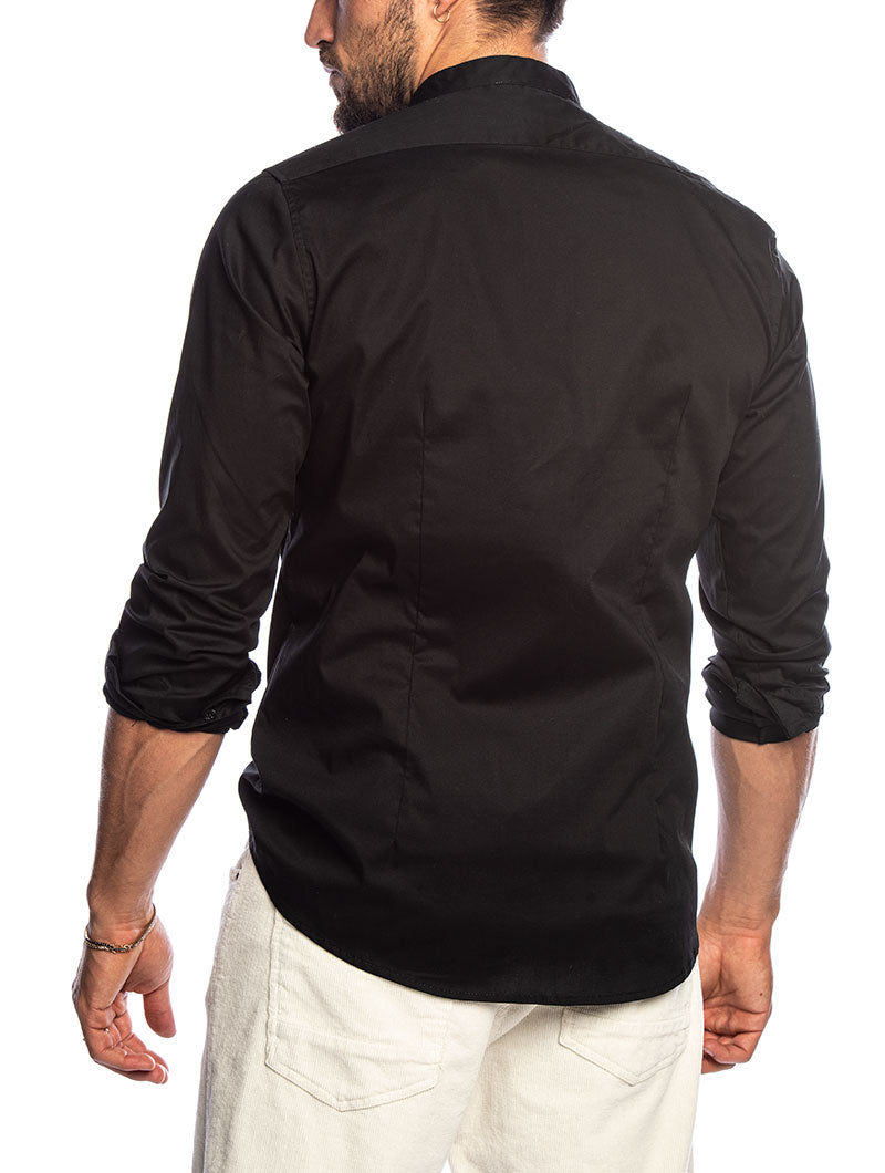 JONAH KOREAN SHIRT IN BLACK