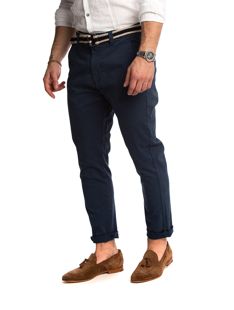 BODAN CASUAL PANTS IN BLUE