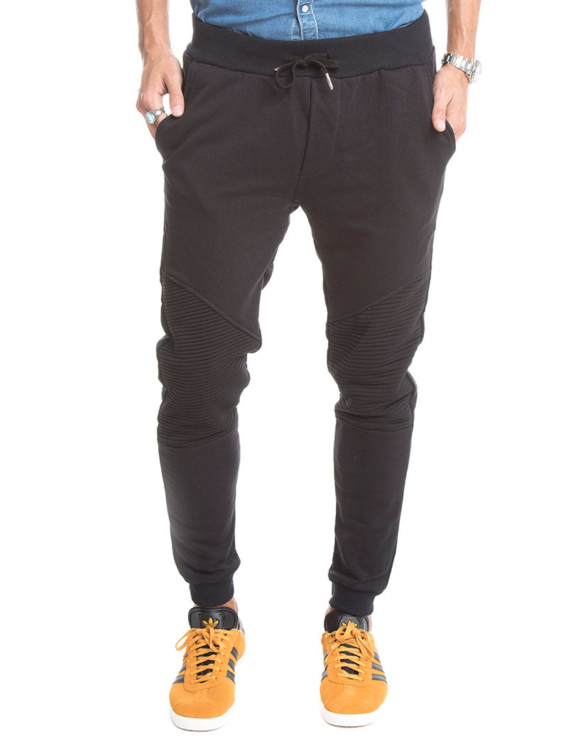 MEN'S CLOTHING | JOGGER WITH ZIP IN BLACK | NOHOW