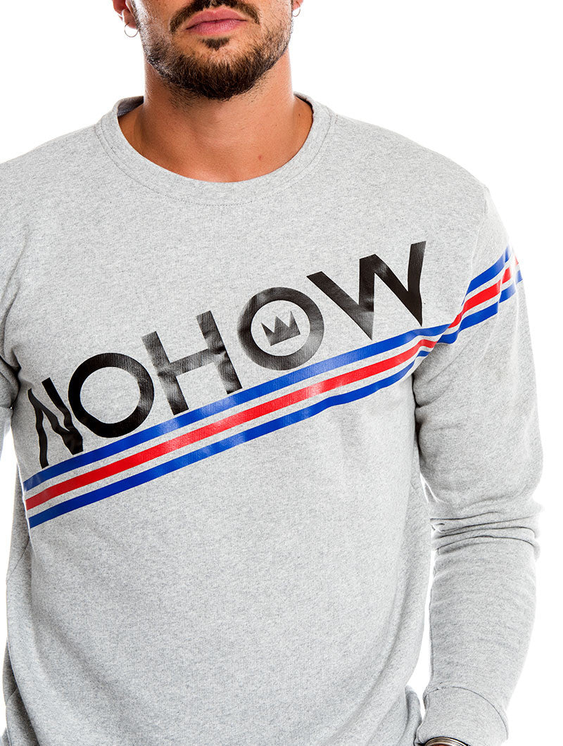 MEN'S CLOTHING | NOHOW LOGO SWEATSHIRT IN LIGHT GREY | COTTON | NOHOW