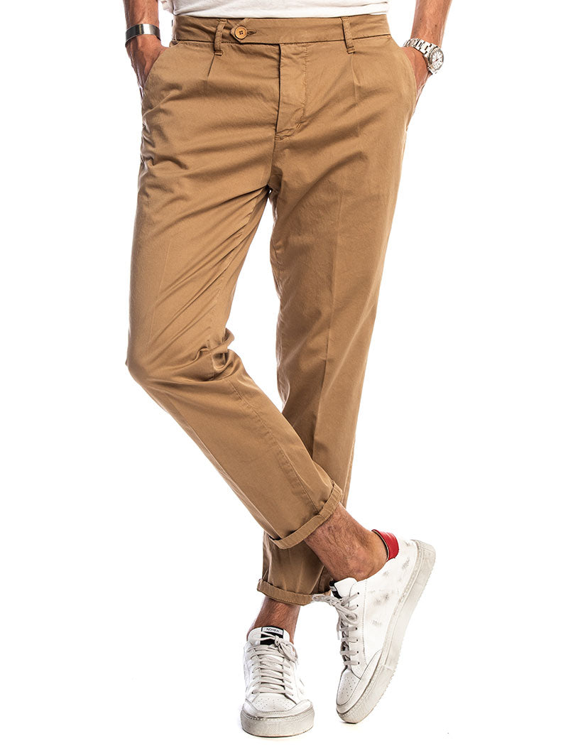 ERIC CASUAL PANTS IN CAMEL