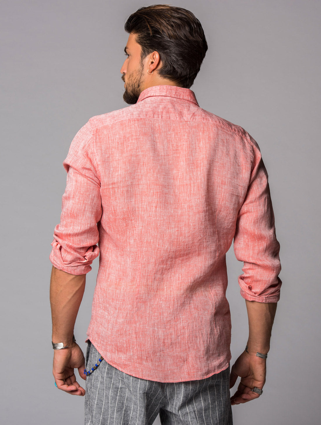 LINUM SHIRT IN APRICOT