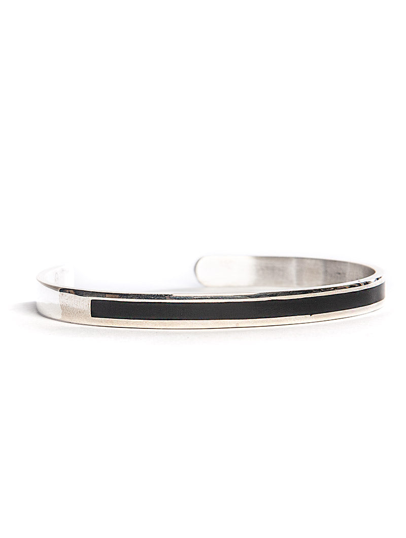 D'AMICO BRACELET IN BLACK AND SILVER