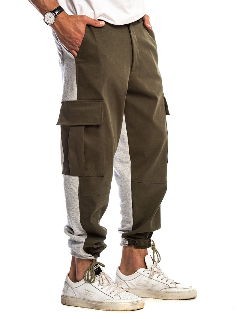 SPARTAN CARGO PANTS IN GREEN AND GREY