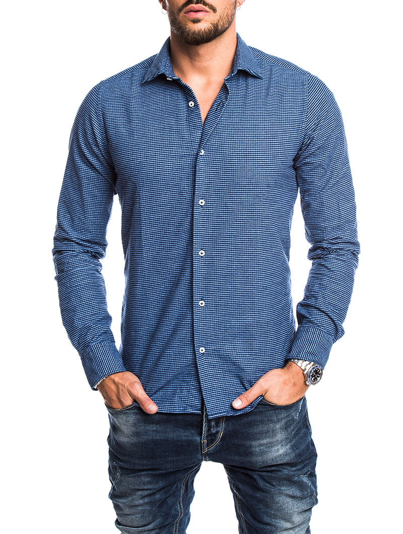 MEN'S CLOTHING | LOMOND FLANNEL STRIPED SHIRT | BLUE | NOHOW