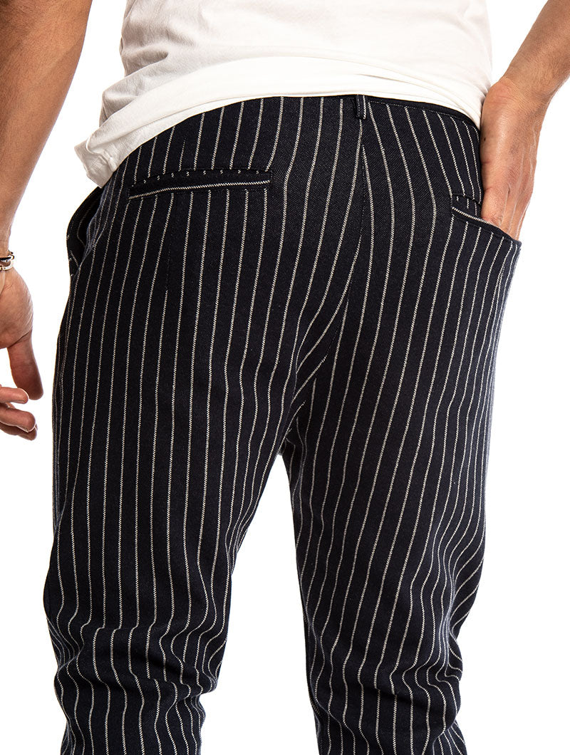 ANUBIS STRIPED PANTS IN BLUE AND WHITE