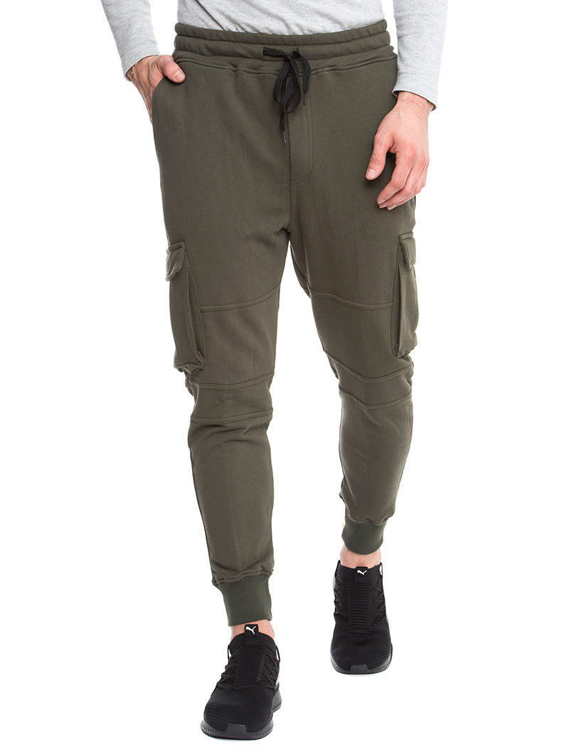 DETROIT CARGO SWEATPANTS IN MILITARY GREEN
