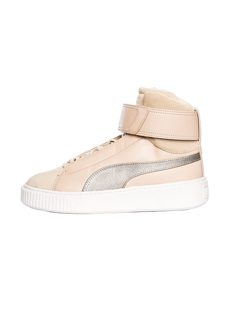 WOMEN'S SHOES | BASKET PLATFORM MID UP WOMAN'S SHOES | NATURAL VACHETTA-BIRCH | PUMA