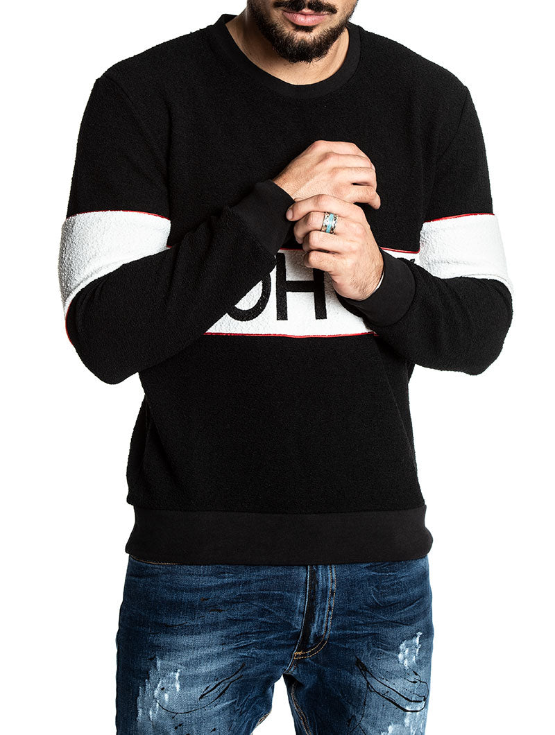 RYKER LOGO SWEATSHIRT IN BLACK
