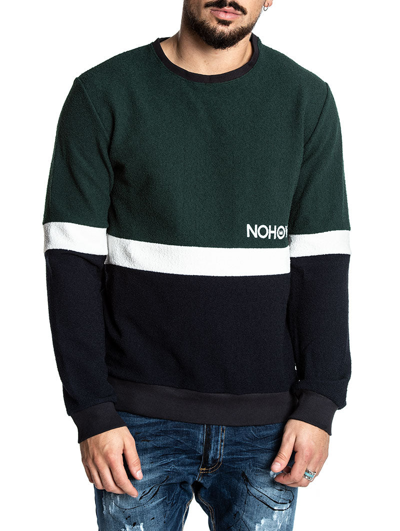 DIRK SWEATSHIRT IN BLUE AND GREEN