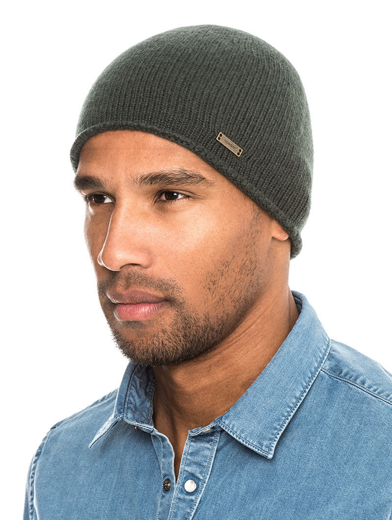 2d796405e79 APOLLO CASHMERE BEANIE HAT IN GREEN – Nohow Style