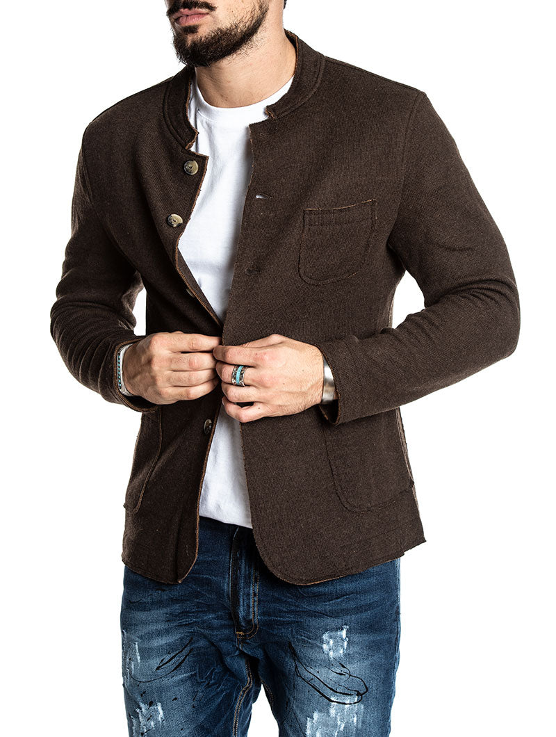 GINGER SINGLE BREASTED BLAZER IN BROWN