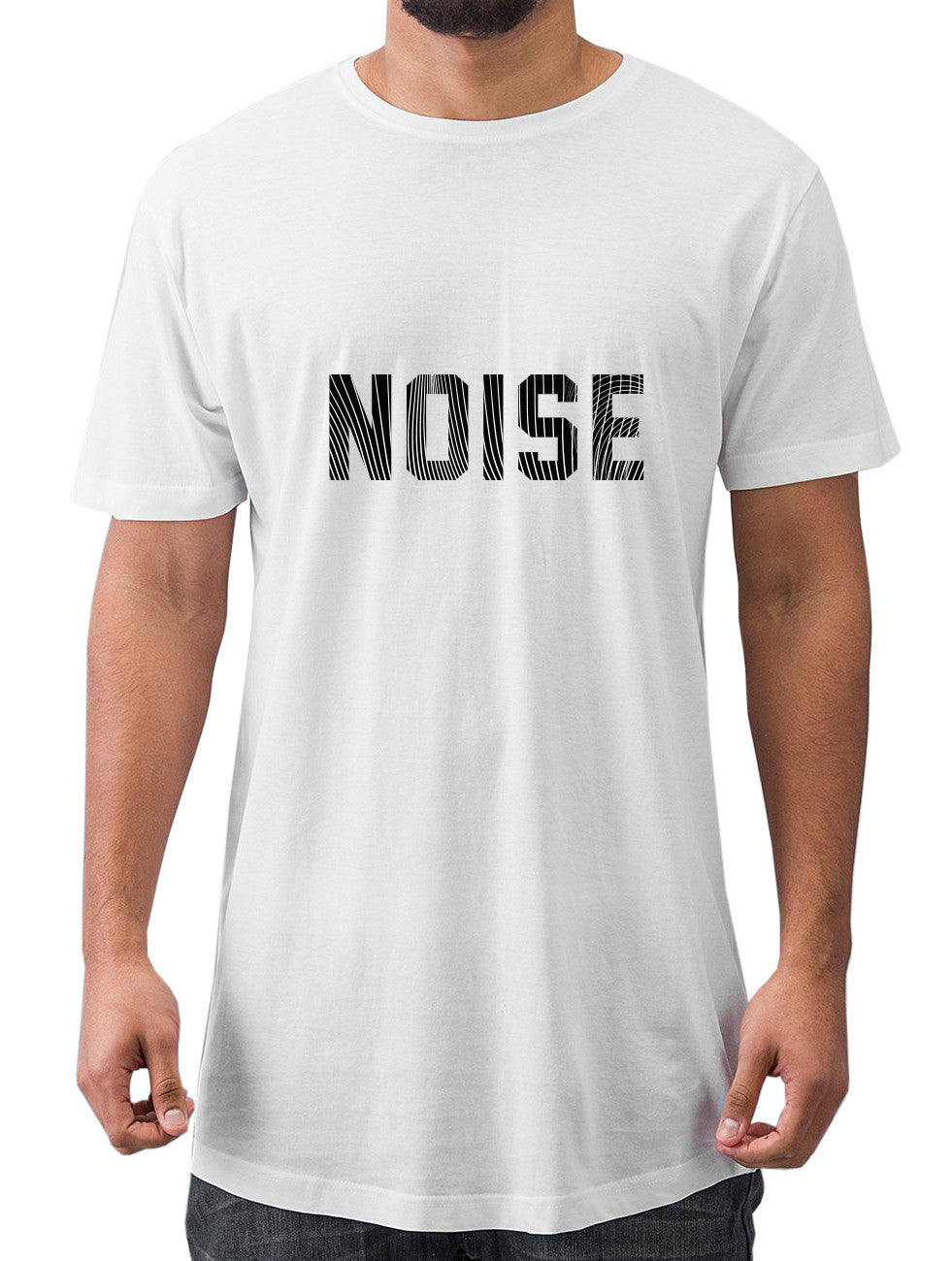 WHITE NOISE LONG TEE