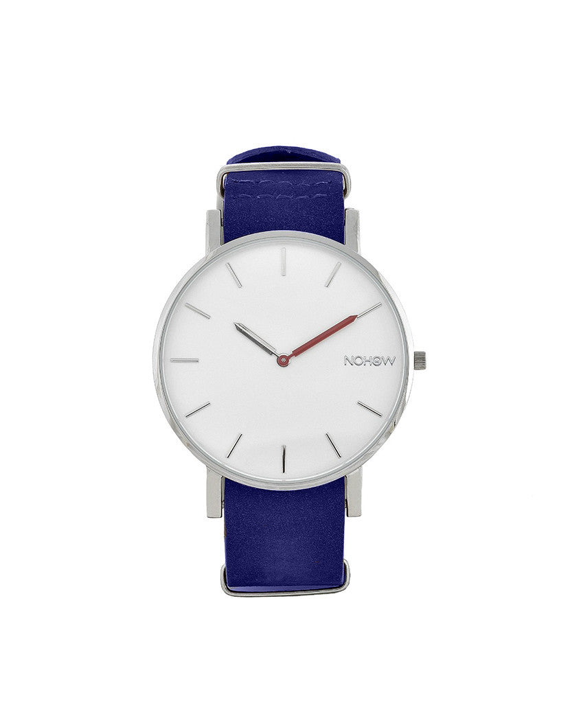 WHITE PURE WATCH NAVY NUBUCK LEATHER