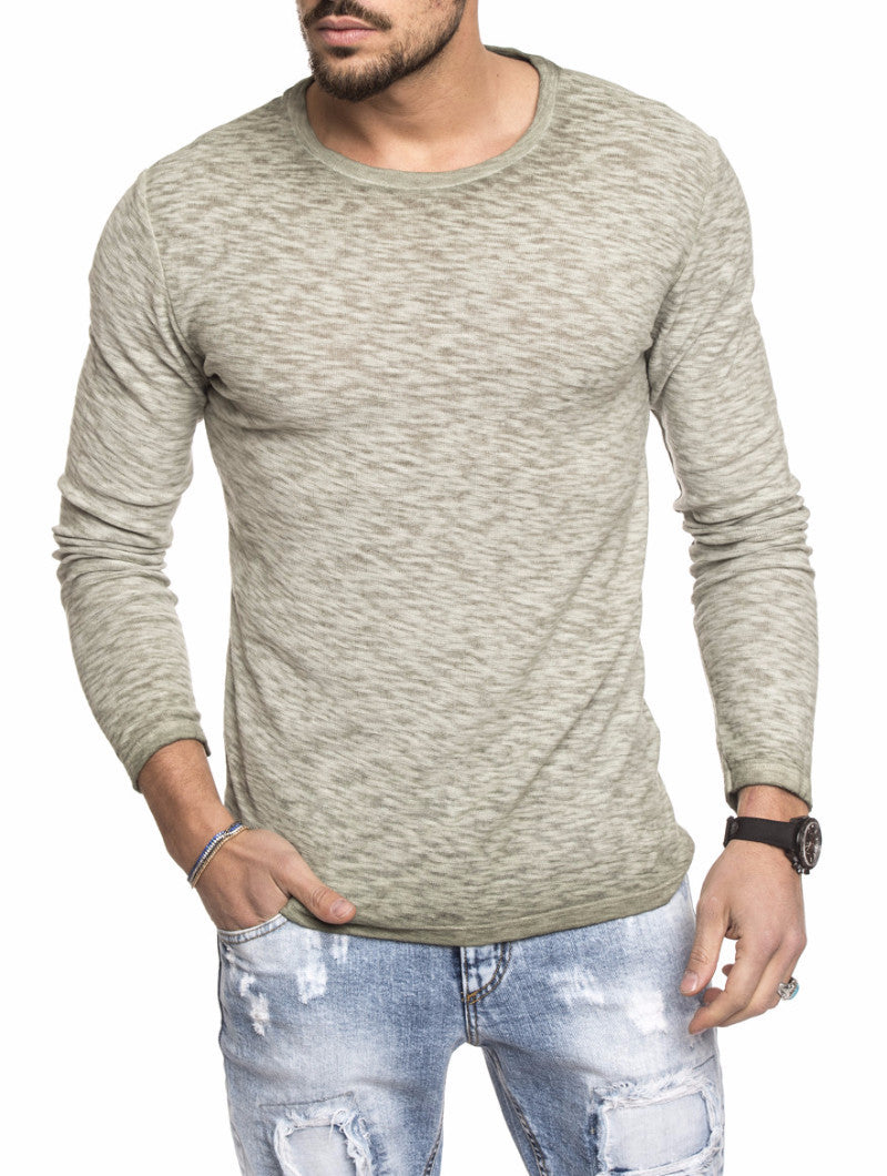 GREEN LONG SLEEVES T-SHIRT