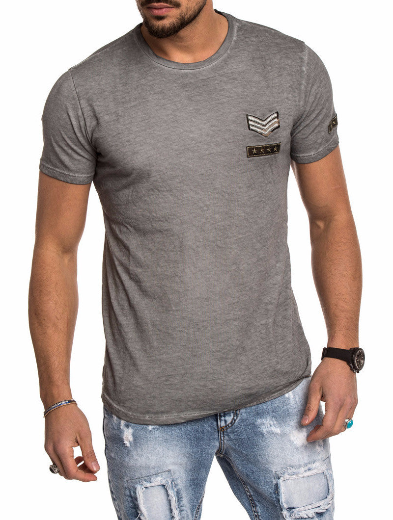 MEN'S T-SHIRT | GREY PATCH | NOHOW
