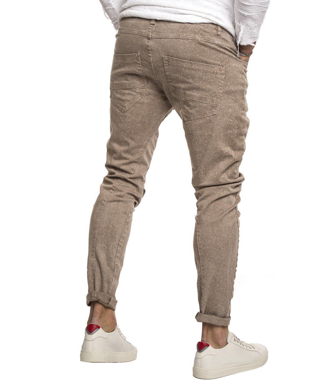 MEN'S CLOTHING | BEIGE GABARDIN 2.0 PANTS | GABARDINE PANTS FOR MEN | COTTON | MADE IN ITALY | SLIM FIT | NOHOW STREETWEAR COLLECTION | NOHOW