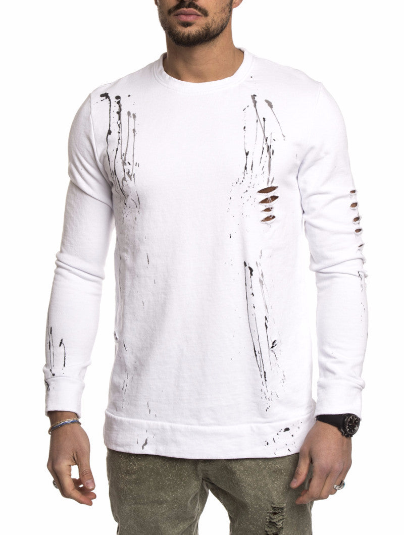 WHITE SPLASH SWEATSHIRT