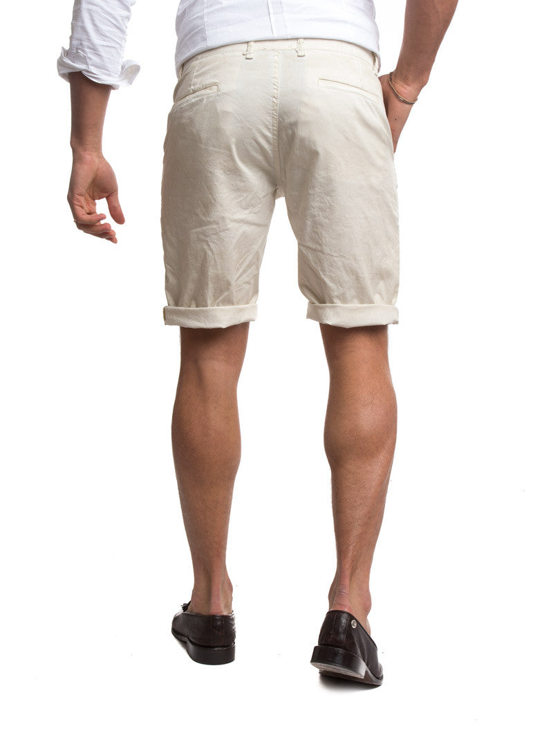 MEN'S CLOTHING | BEIGE SHORTS | REGULAR FIT | BERMUDA | NOHOW STREETWEAR COLLECTION | NOHOW