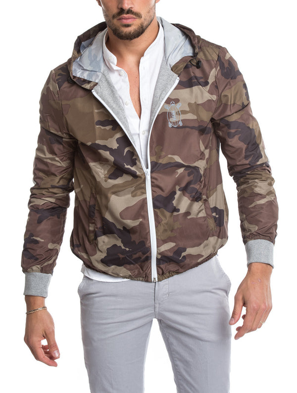4a716abf GREEN CAMO RUGBY PATCH JACKET
