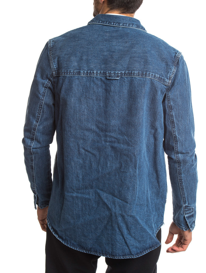 DENIM SHACKET ENCORE BLUE
