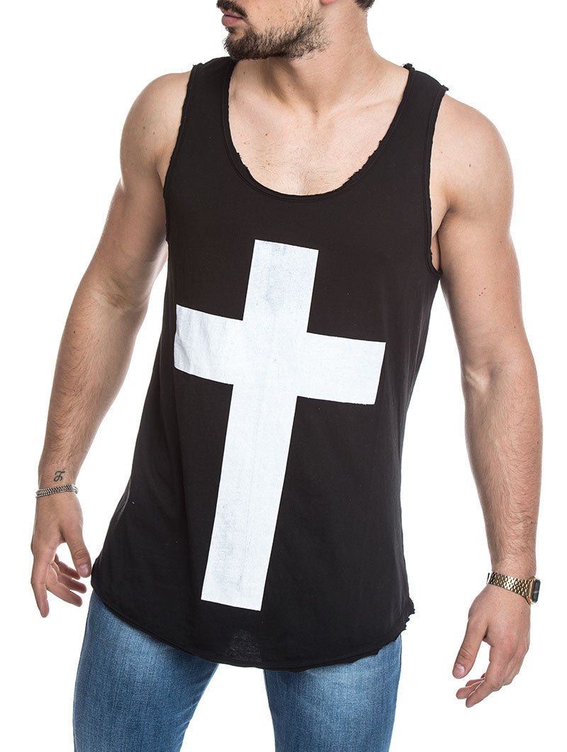 MEN'S CLOTHING | BLACK X TANK | SLEEVELESS SHIRTS FOR MEN | MADE IN ITALY | COTTON | NOHOW URBAN COLLECTION | NOHOW