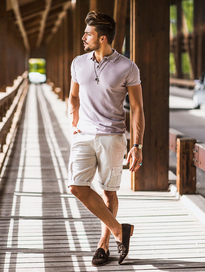 MEN'S CLOTHING | BEIGE CARGO BERMUDA | COMBATS | COMBAT SHORTS | COTTON | NOHOW SUMMER COLLECTION | NOHOW