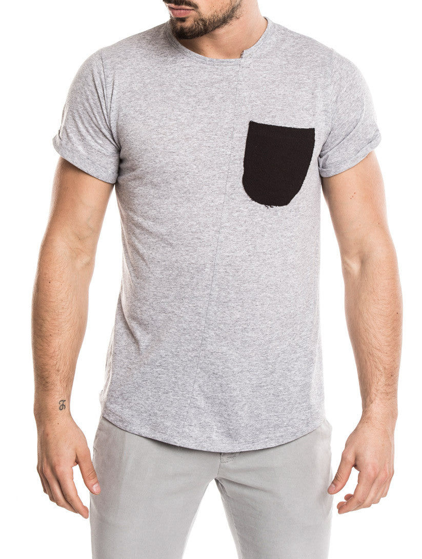 MEN'S CLOTHING | GREY POCKET T-SHIRT | NOHOW