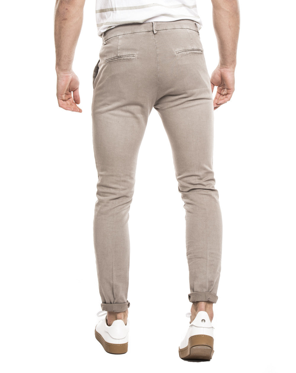 MEN'S CLOTHING | CASUAL BEIGE PANTS | PANTS FOR MEN | BOTTOMS | TROUSERS | COTTON | MADE IN ITALY | SLIM FIT | NOHOW FOR CASUAL OUTFITS | NOHOW