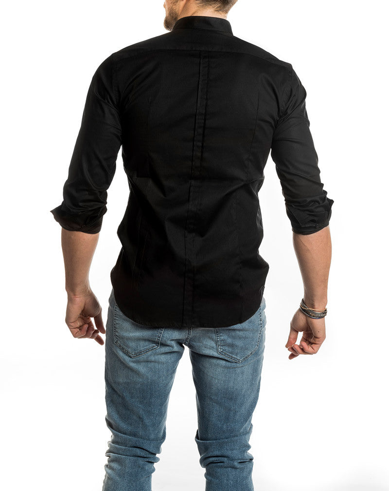 BLACK KOREAN SHIRT