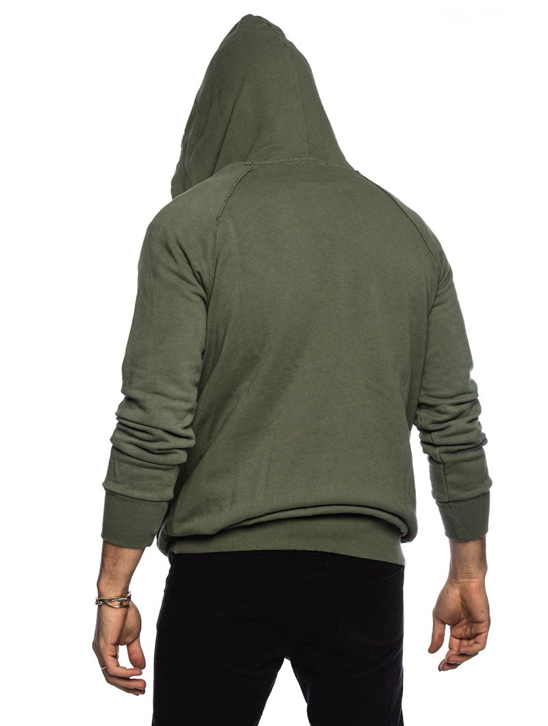 HOODED SWEATSHIRT IN GREEN