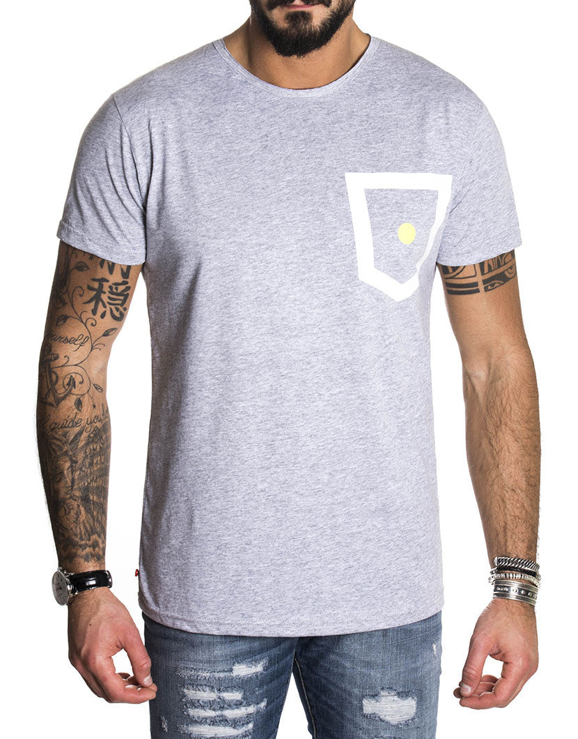 REAL POCKET GREY T-SHIRT