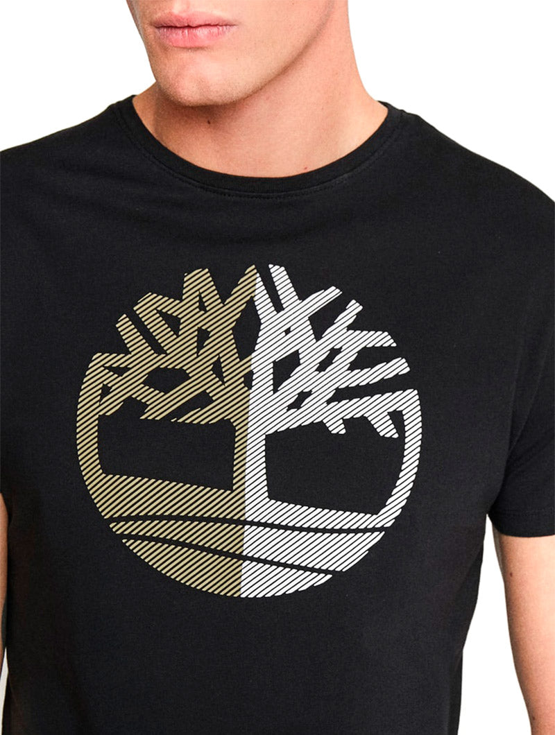 SS LARGE SILCONE TREE TEE IN BLACK