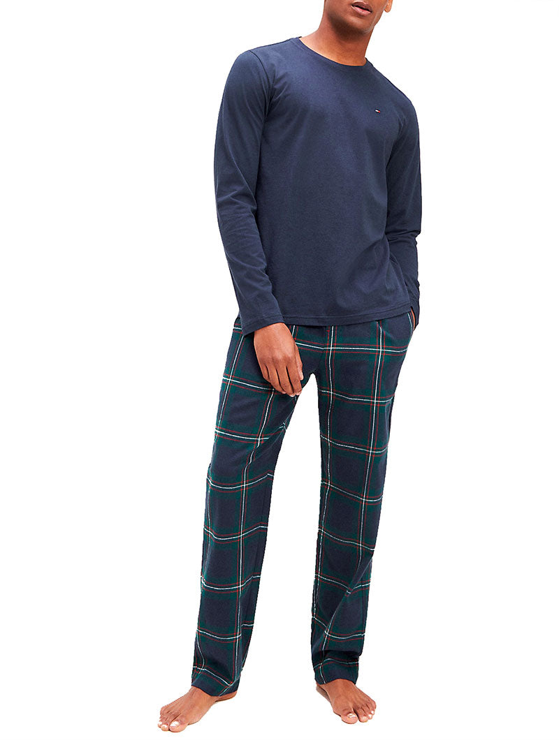 CN L/S PYJAMA IN CHECKED BLUE
