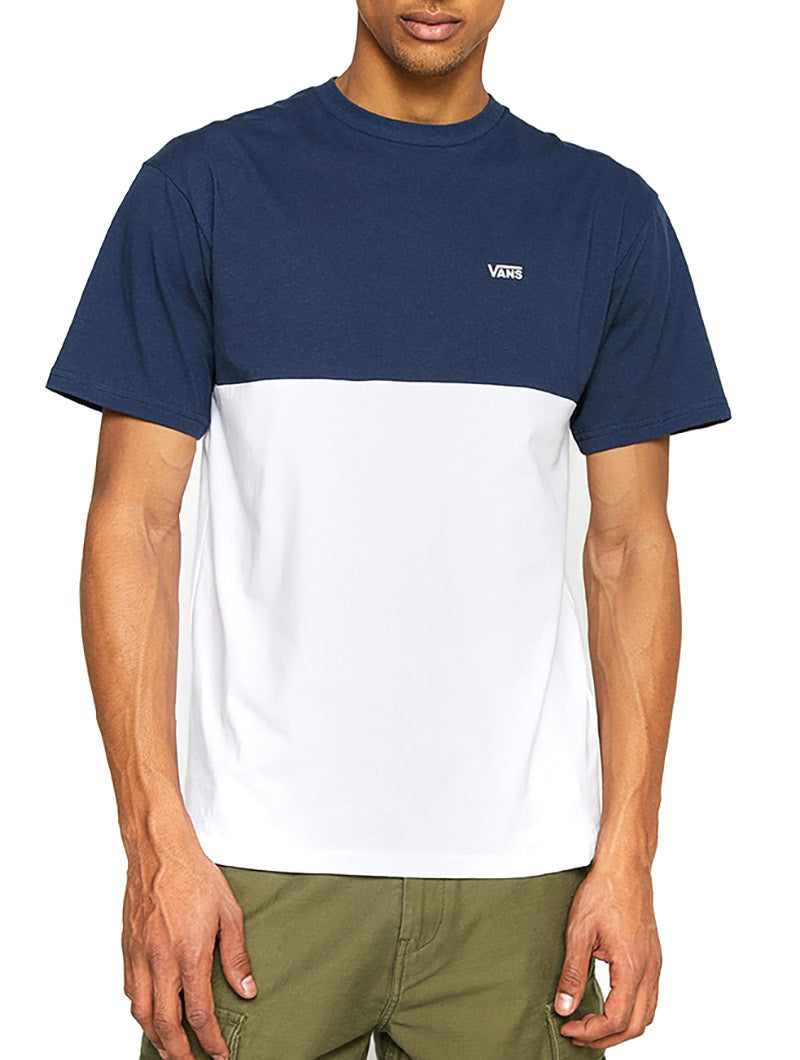 MN COLORBLOCK TEE IN WHITE AND BLUE