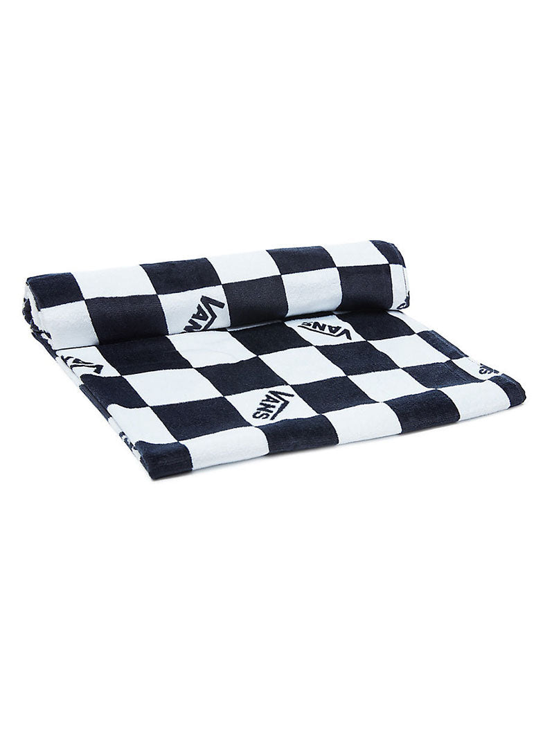 MN CHECKERBOARD BEACH TOWEL IN WHITE AND BLACK