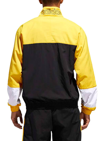 ... BLOCKED WARM UP TRACK-JACKET IN BLACK AND YELLOW ... 71c77b984802