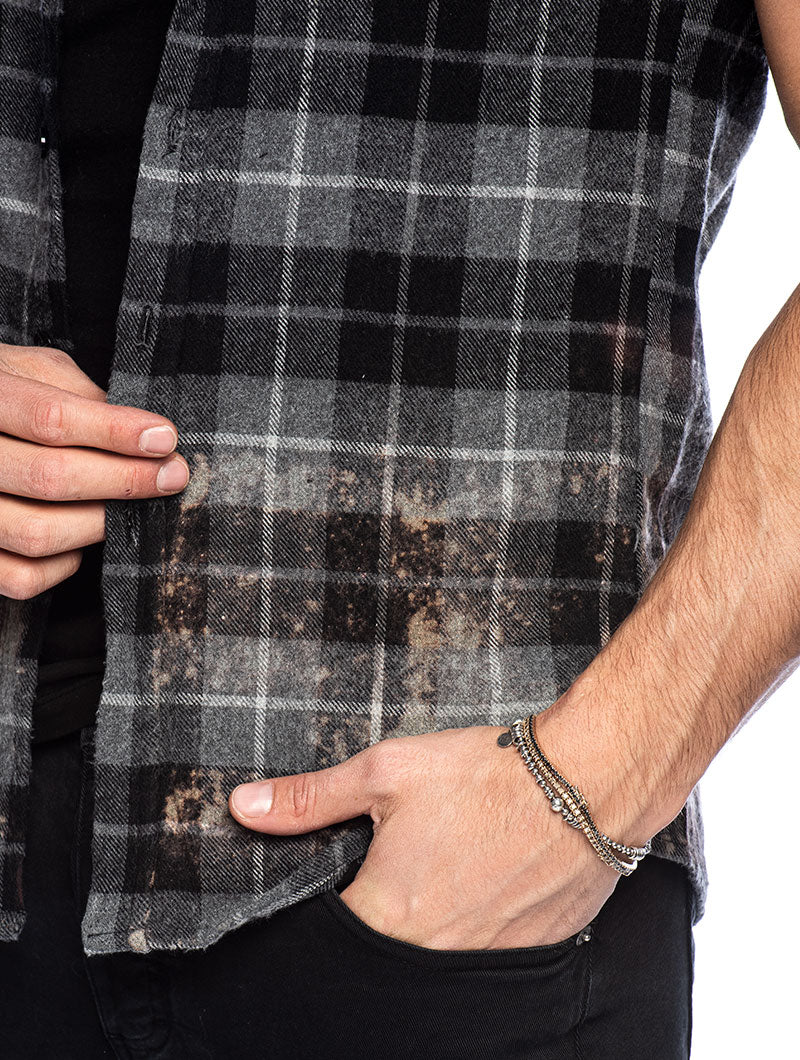 BRAM CHECKED SHIRT IN RUST AND GREY