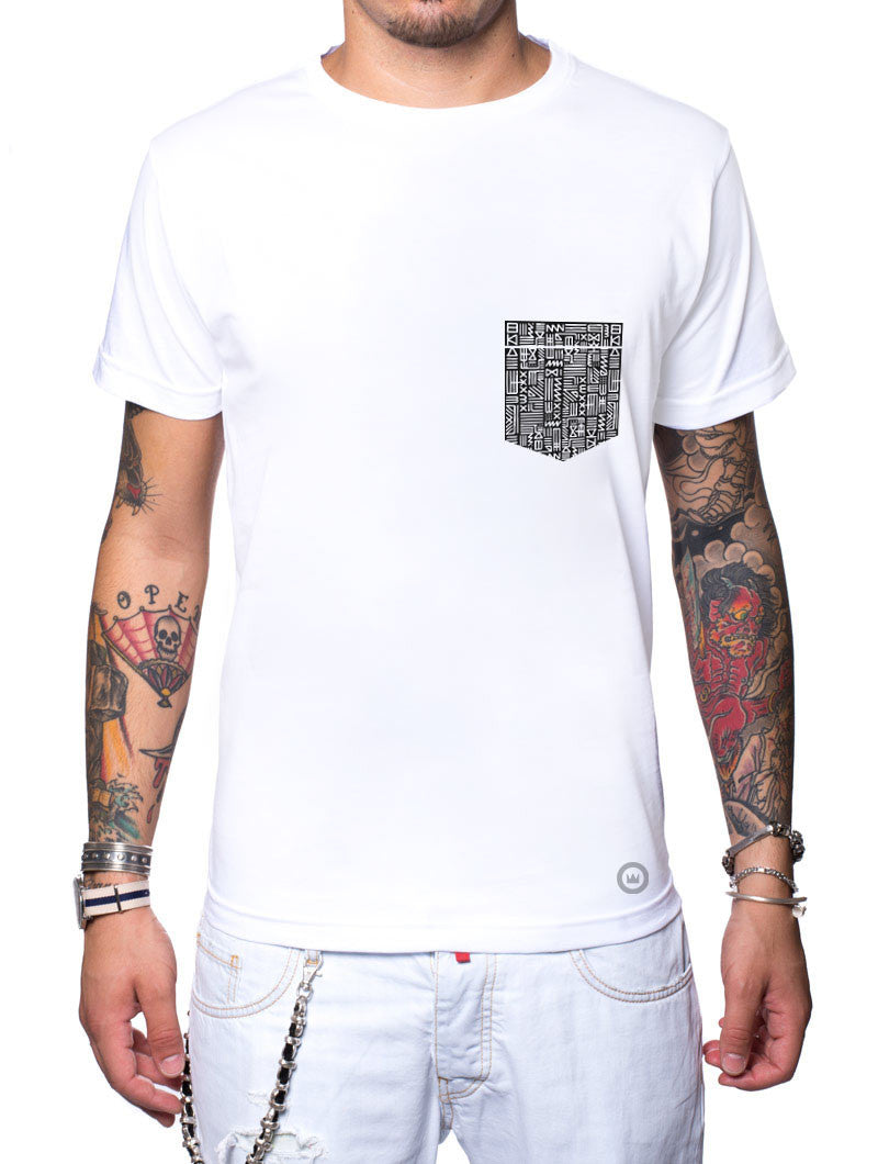 Men's Clothing | Black Aztec Pocket T-Shirt | Nohow